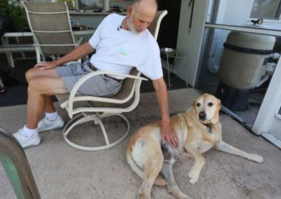Time is short, but Zeke the Labrador lives to keep his owner alive
